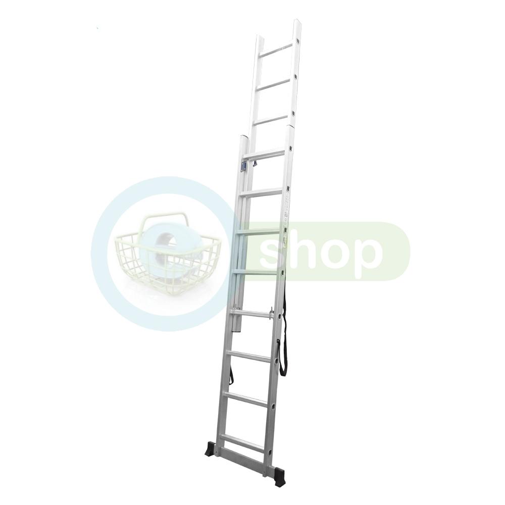 Escalera de aluminio extensible colisa panther pal608 8 - Escaleras de aluminio extensibles ...