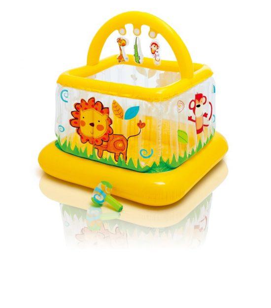 Gimnasio para bebes inflable cuadrado intex 48473 for Piscina inflable intex para bebe