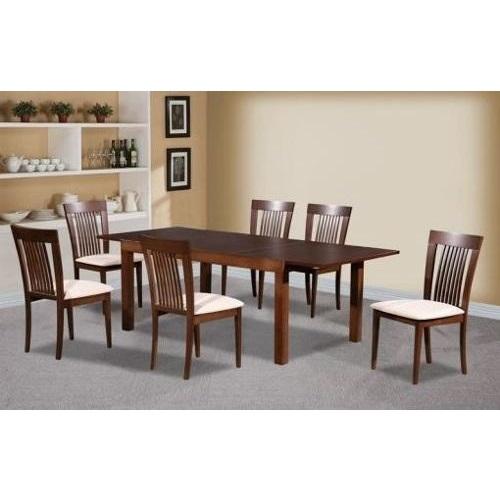 Juego de comedor extensible con 6 sillas mystic for Juego comedor madera 6 sillas