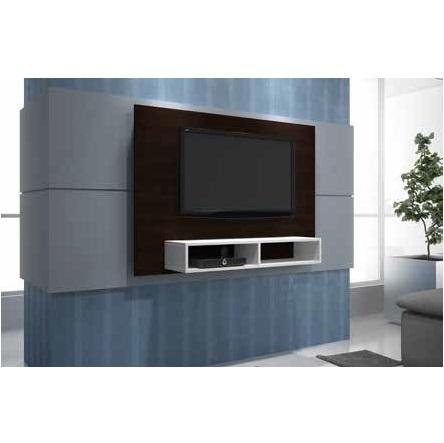 Estantes Para Pared.Panel Para Tv Plasma Lcd O Led Con Soporte Para Pared Con Estante Para Canalera