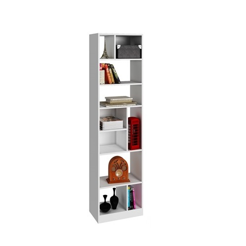 Estanter a alta en color blanco be 839 de mdp e shop for Muebles on line uruguay
