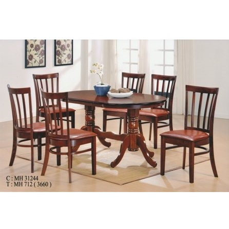 Juego de comedor con 6 sillas coco mesa ovalada en color - Mesa ovalada comedor ...