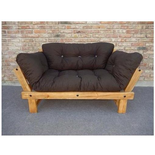 Fut n sof cama beat de 3 posiciones fabricado en madera for Muebles madera maciza uruguay