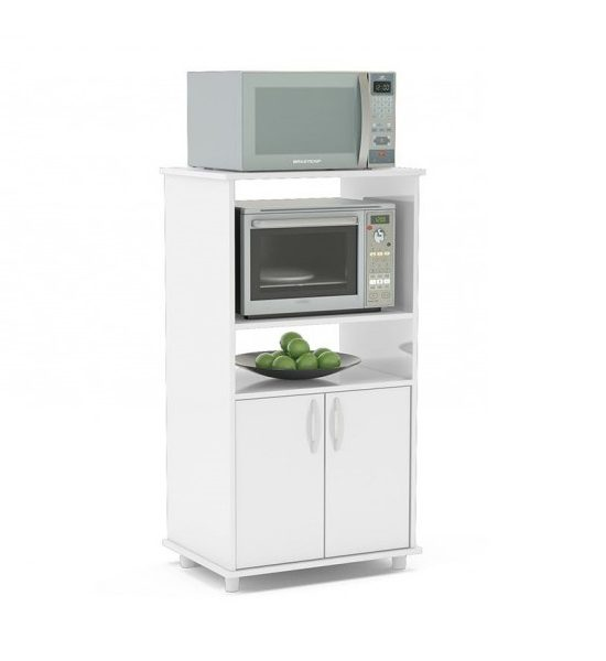 Mueble rack para horno y microondas blumenau en blanco Mueble para horno