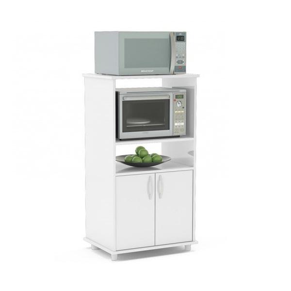 Mueble rack para horno y microondas blumenau en blanco for Muebles para horno de microondas