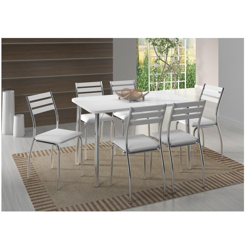Juego de comedor con 6 sillas mesa rectangular carraro for Muebles online uruguay